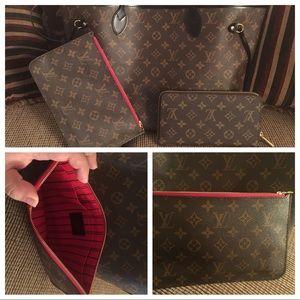 Louis Vuitton Neverfull MM red interior/black edge